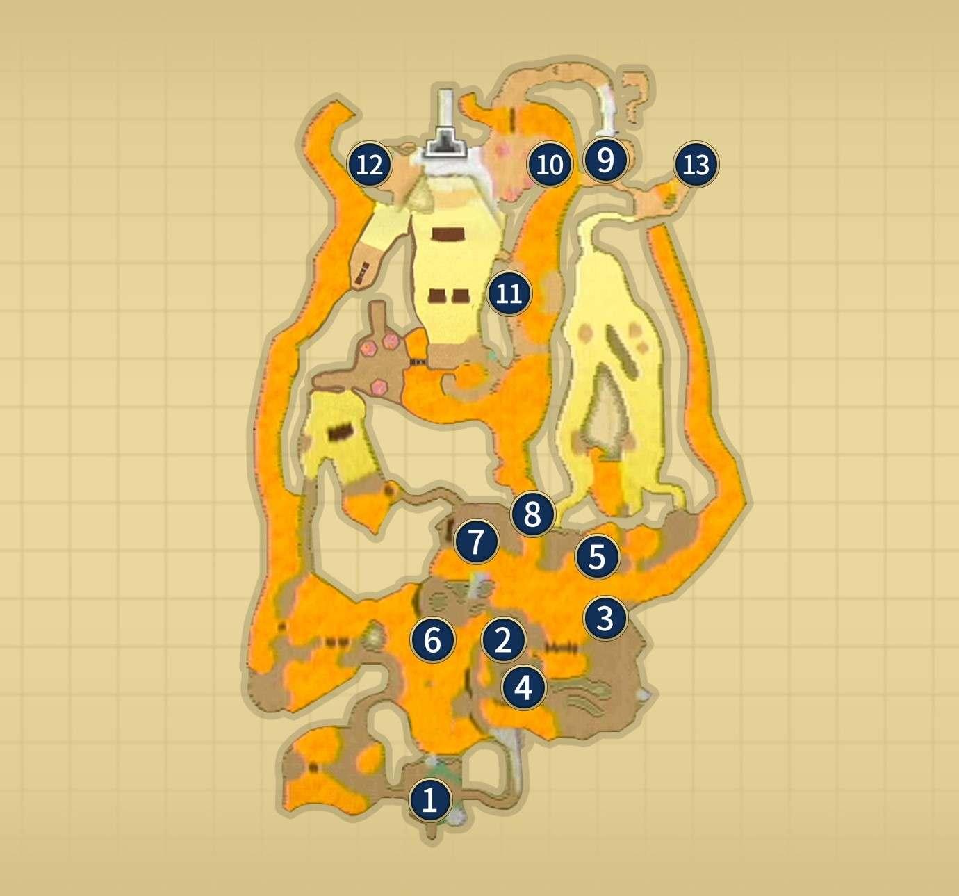 オルディン火山噴火後マップ