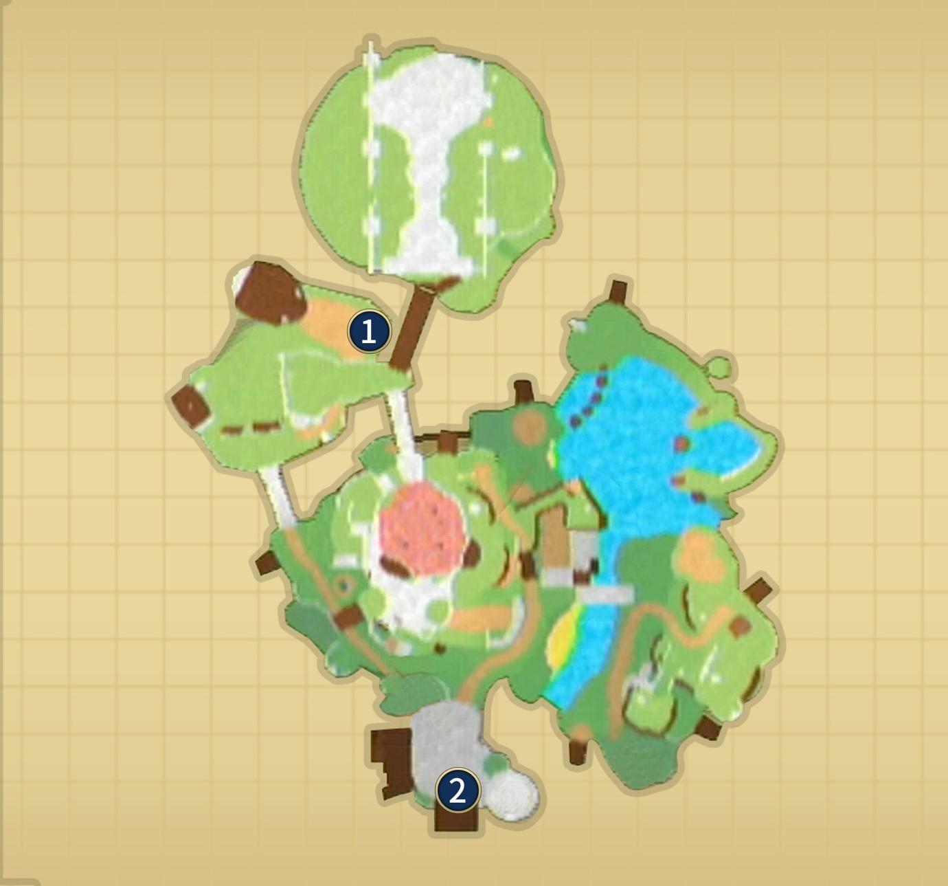 スカイロフトのマップ