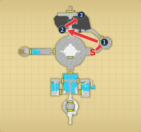 天望の神殿終盤のマップ