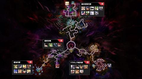 闇の世界キャラ解放マップ