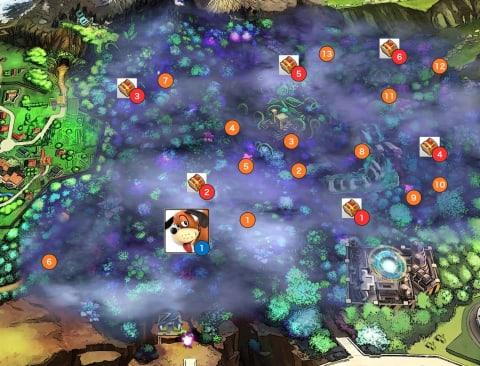 霧の森エリアマップ