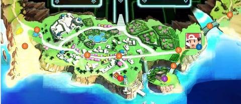 砂浜エリアマップ