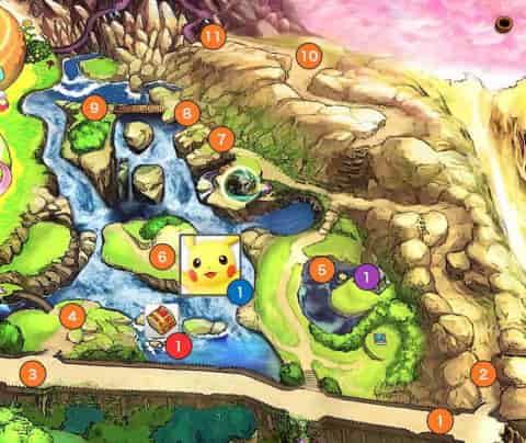 滝エリアマップ