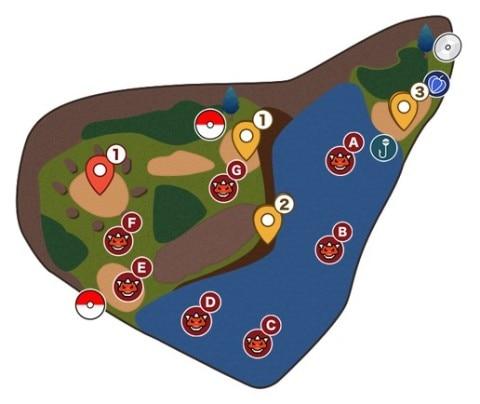 ポケモン剣盾】げきりんの湖のマップと出現ポケモン|ワイルド