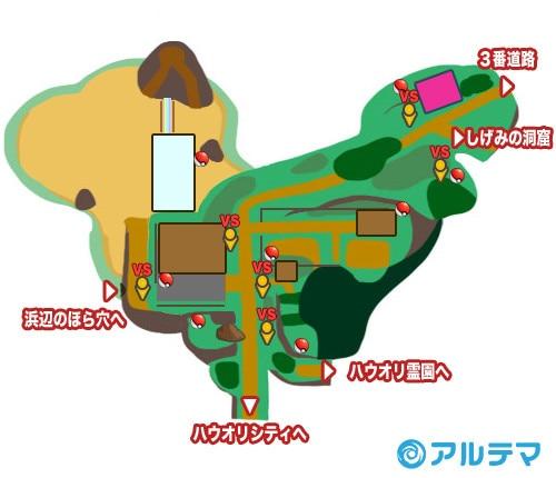 2番道路の出現ポケモンとマップ/入手道具