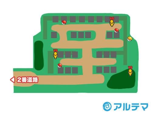 ハウオリ霊園の出現ポケモンとマップ/入手道具