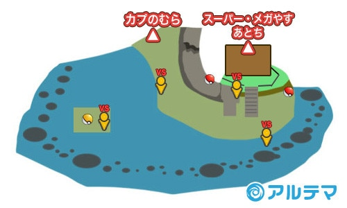 14番道路の出現ポケモンとマップ/入手道具