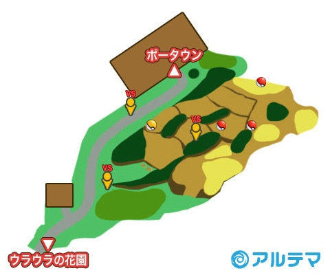 17番道路の出現ポケモンとマップ/入手道具