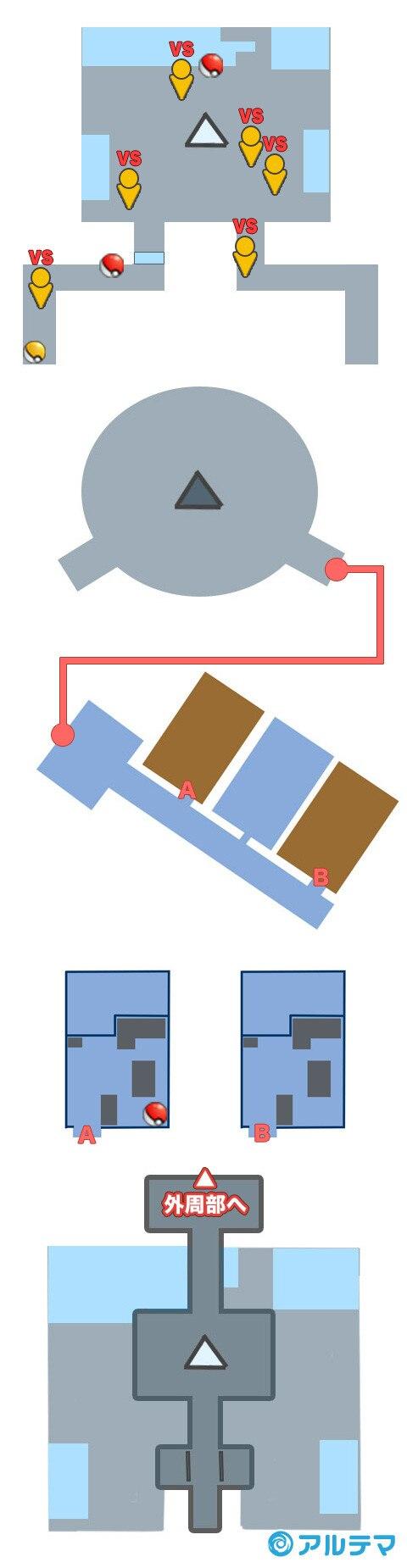 エーテルパラダイスのマップと入手道具