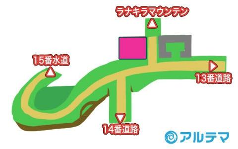 カプの村の出現ポケモンとマップ/入手道具