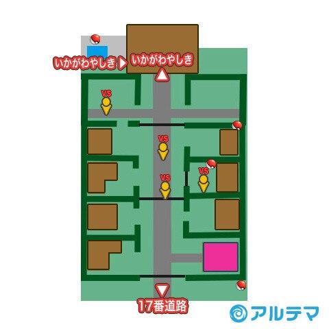 ポータウンの出現ポケモンとマップ/入手道具
