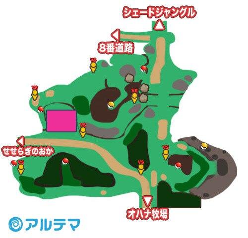 5番道路の出現ポケモンとマップ/入手道具