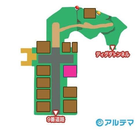 コニコシティのマップと入手道具