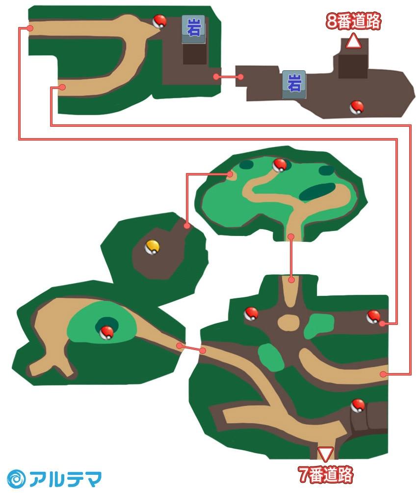シェードジャングルの出現ポケモンとマップ/入手道具