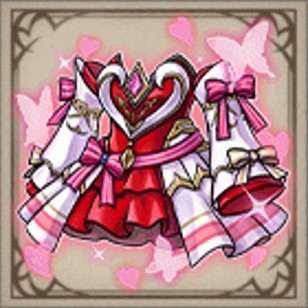 花舞精霊のバレンタインドレス