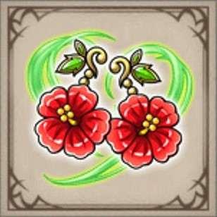 夏花のピアス