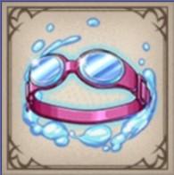 夏色の水中メガネ