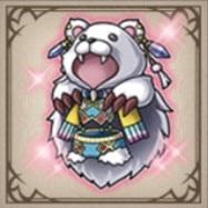 白熊の毛皮
