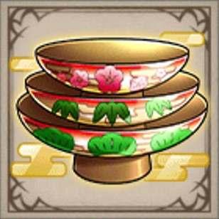 松竹梅の三組皿